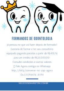 Dentista ou Formando Adiquira seu Consultório Odontológico com parcelas a partir de R$455,76