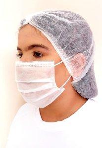 Temos Máscaras Descartáveis Hospitalar dupla camada