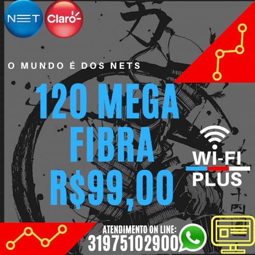 Internet 120 Mega Fibra com Wi-fi Plus