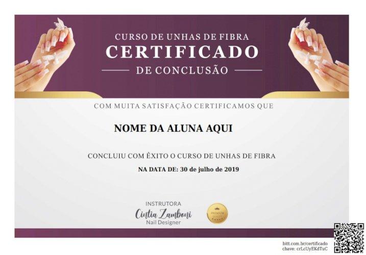 Curso Online de Unhas de Fibra Com Certificado